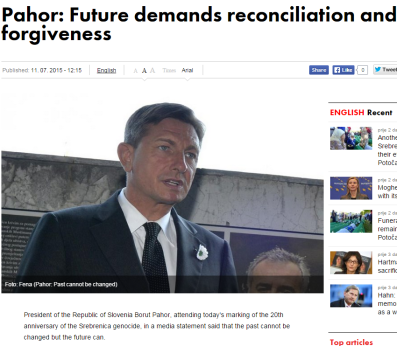 Avaz Pahor Srebrenica