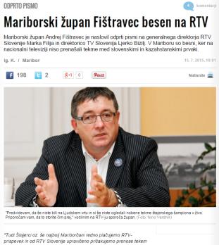 Fištravec nogomet prenos Žurnal