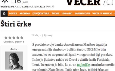 Jager Večer NKBM prodaja