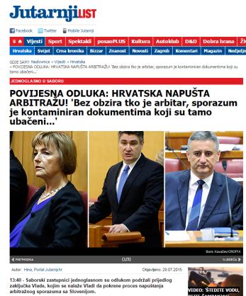 Jutarnji Pusić dokumenti arbitraža