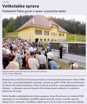 Mladina Pahor sprava Velike Lašče