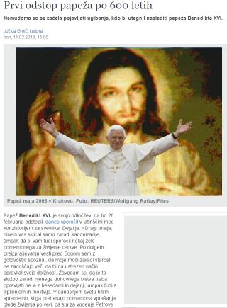 Odstop Benedikta Delo
