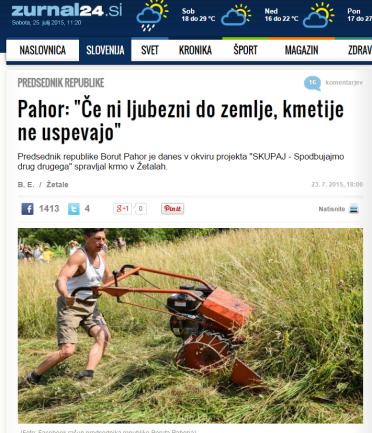 Pahor kosi travo Žurnal24 ljubezen
