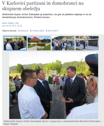 Pahor obeležje Karlovica Delo