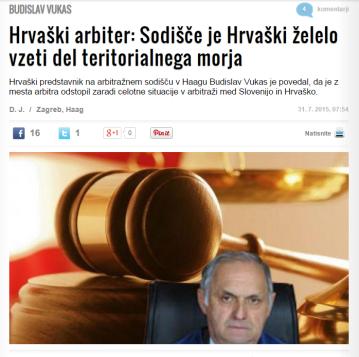 Vukas arbitraža Zurnal