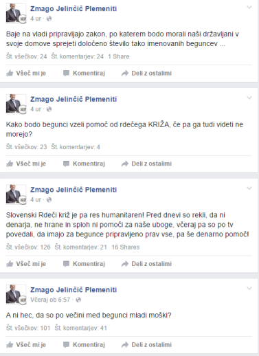 Jelinčič begunci FB