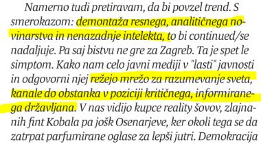 Stepišnik Večer Melania Trump in RTV