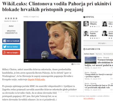 Wikileaks Clinton Pahor Večer cache