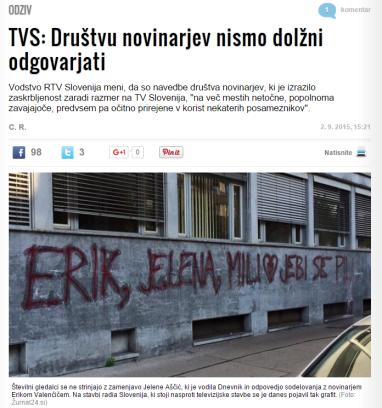 Žurnal RTV odziv na DNS