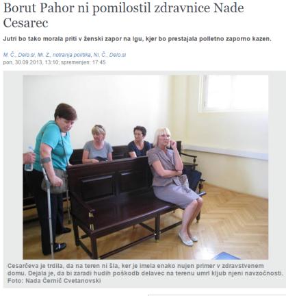 Pahor pomilostitev Nada Cesarec