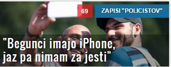 policist iphone begunci