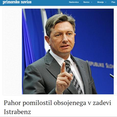 Pomilostitev Pahor Bajrović Primorske