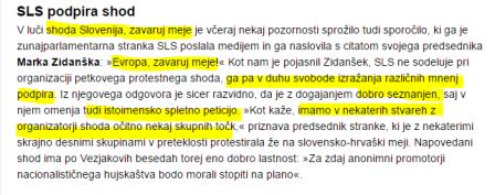 SLS Slovenija zavaruj meje