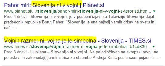 Slovenija v vojni google zadetki nadaljevanje