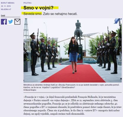 Slovenija vojna Mladina Mekina