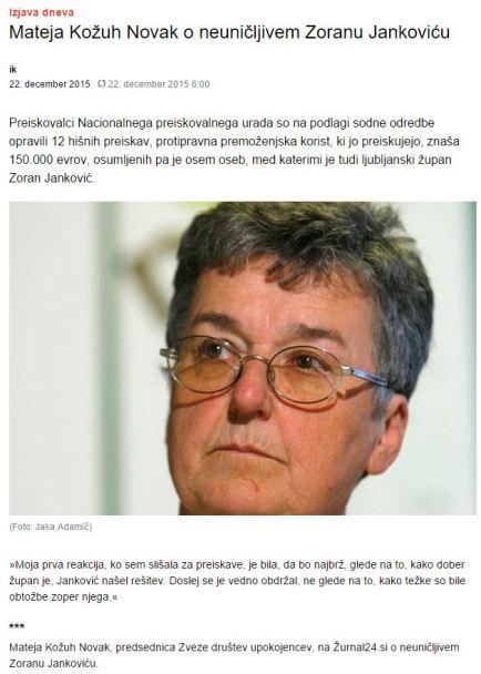 Kožuh Novak o dobrem Jankoviću