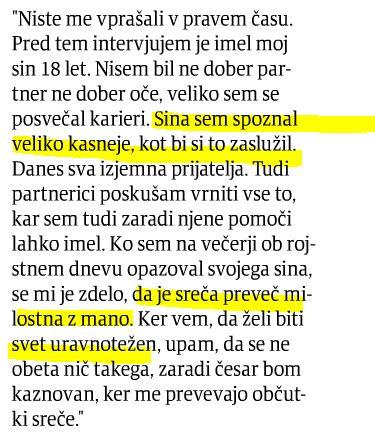Pahor sreča sin Večer