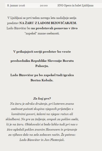 Bizovičar Pahor SNG napoved