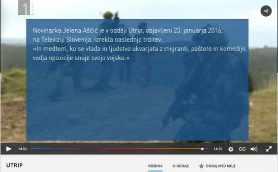 Demanti SDS Utgrip Jelena Aščić prva