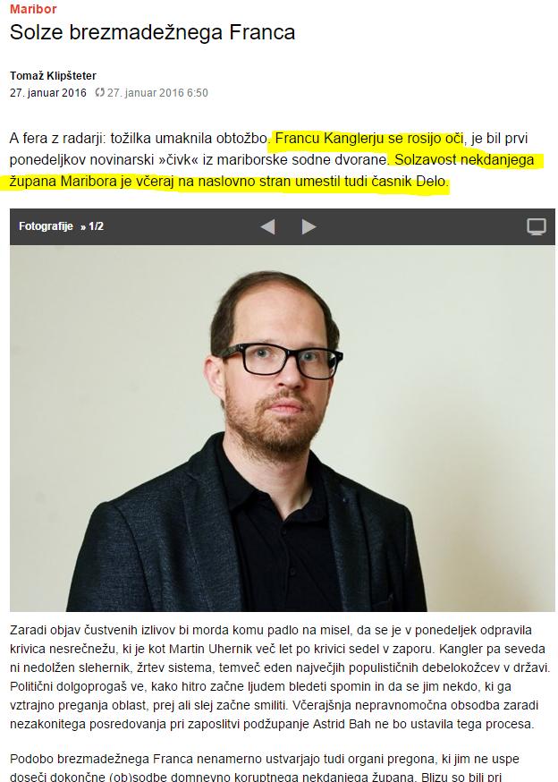 Klipšteter Kangler solze Dnevnik