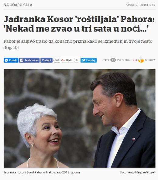 Kosor Pahor Večernji žar