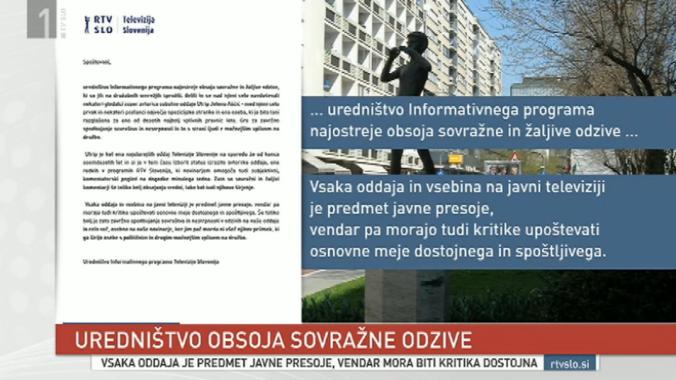 RTV Aščić kuzla sovražni odziv dnevnik