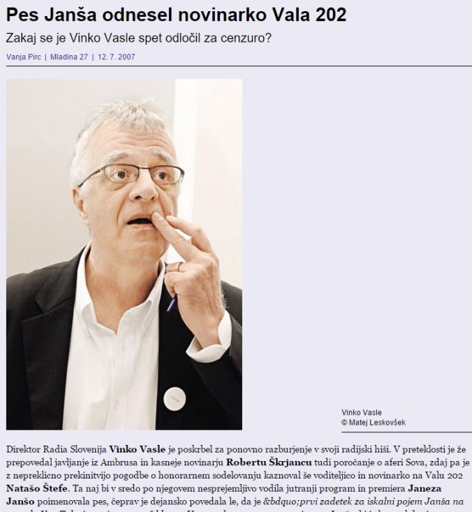 Janša pes Štefe Mladina