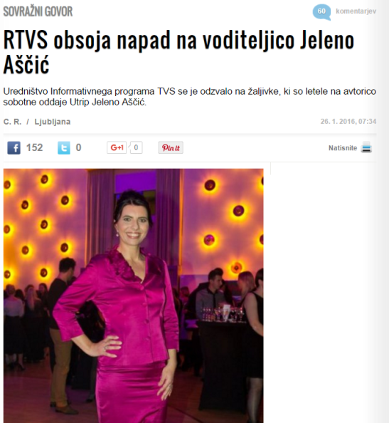 Jelena Aščič sovražni govor