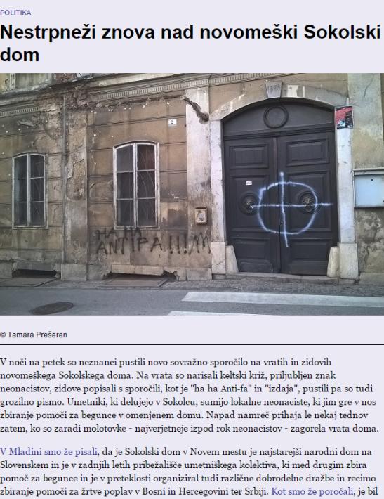 Keltski križ Novo mesto Mladina