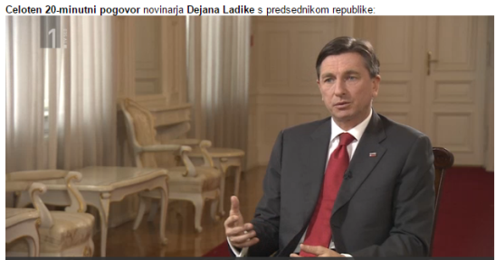 Pahor intervju Ladika begunci tv