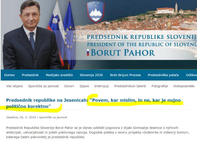 Pahor politična korektnost