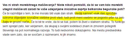 Cerar intervju Dnevnik izsek mediji