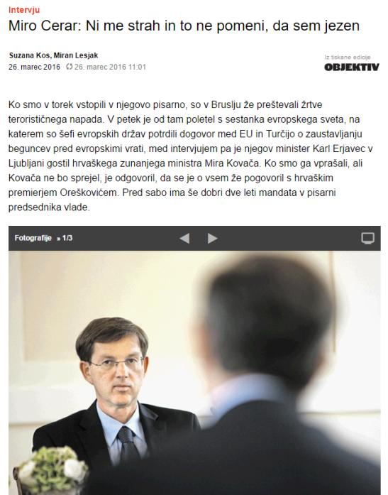 Cerar intervju Dnevnik strah mediji