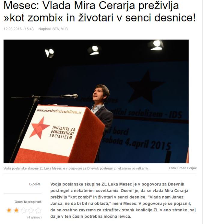 Mesec Janša Cerar zombi