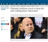 Rasizem nogomet Guardian Nikolic