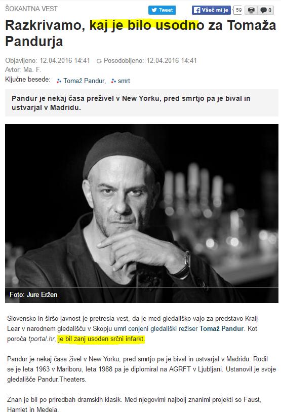 SN smrt Tomaž Pandur