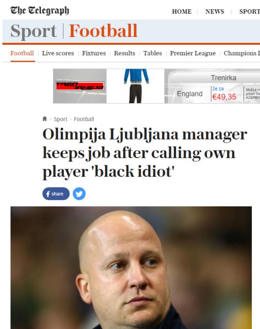 Telegraph Marko Nikolic rasizem