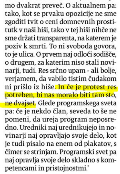Bobovnik intervju Večer