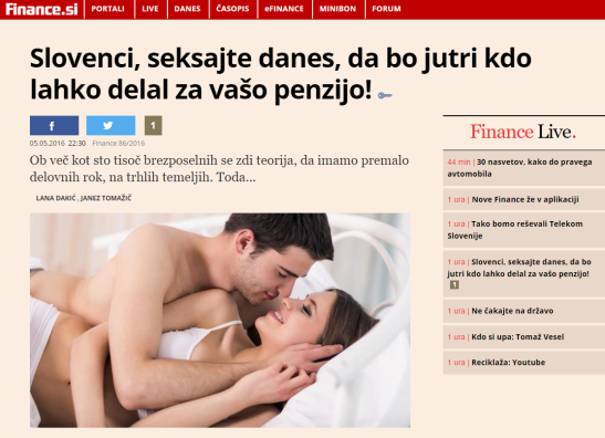 Finance seks penzija