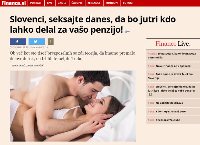 Finance seks penzija