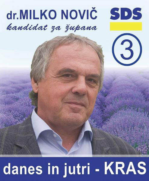 Milko Novič plakat SDS