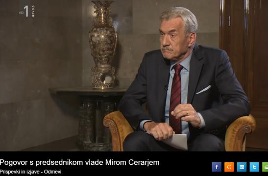 Bobovnik Odmevi intervju Cerar