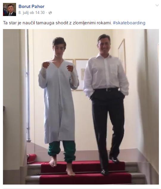 Pahor FB instagram Luka mavec