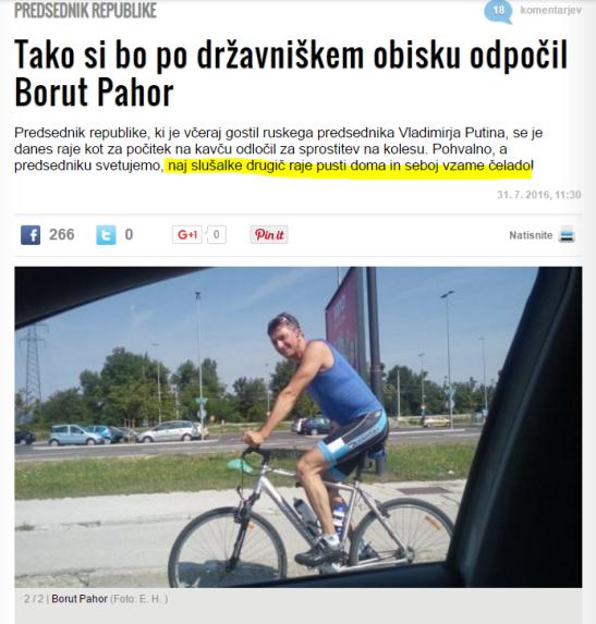 Pahor kolesari Žurnal