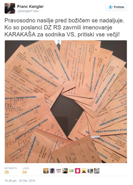 kangler-obvestila-sodisce-tvit