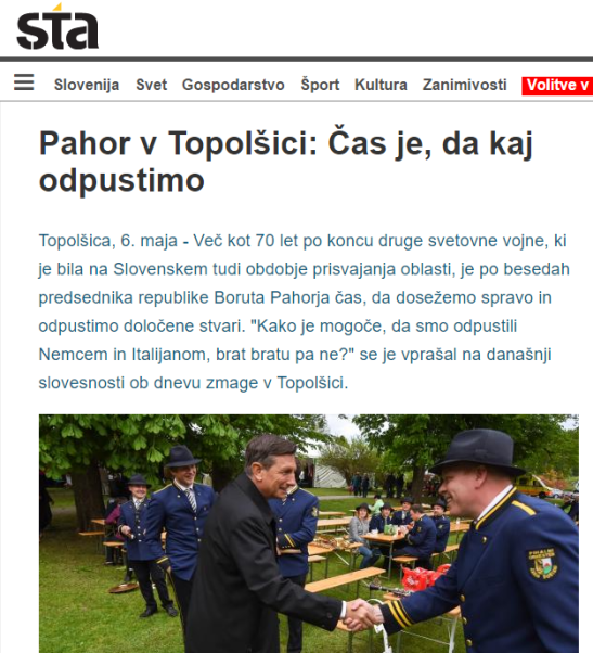 STA Pahor čas je da odpustimo