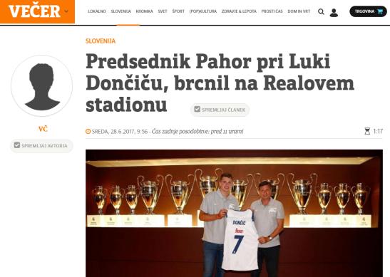 Pahor Dončič Večer