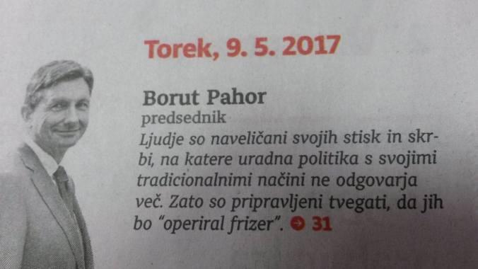 Pahor frizer citat