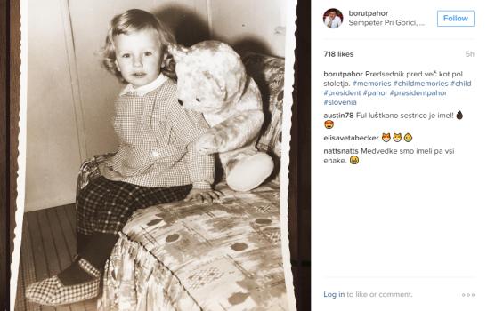 Pahor instagram otrok