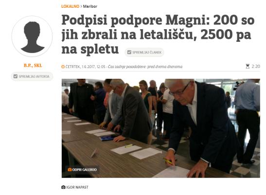 Večer Magna podpisi